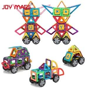Image 3 - JOY MAGS układanki magnetyczne blok 89/102/149 pcs modele budowlane zabawki Enlighten zestawy plastikowych modeli edukacyjne zabawki dla małych dzieci