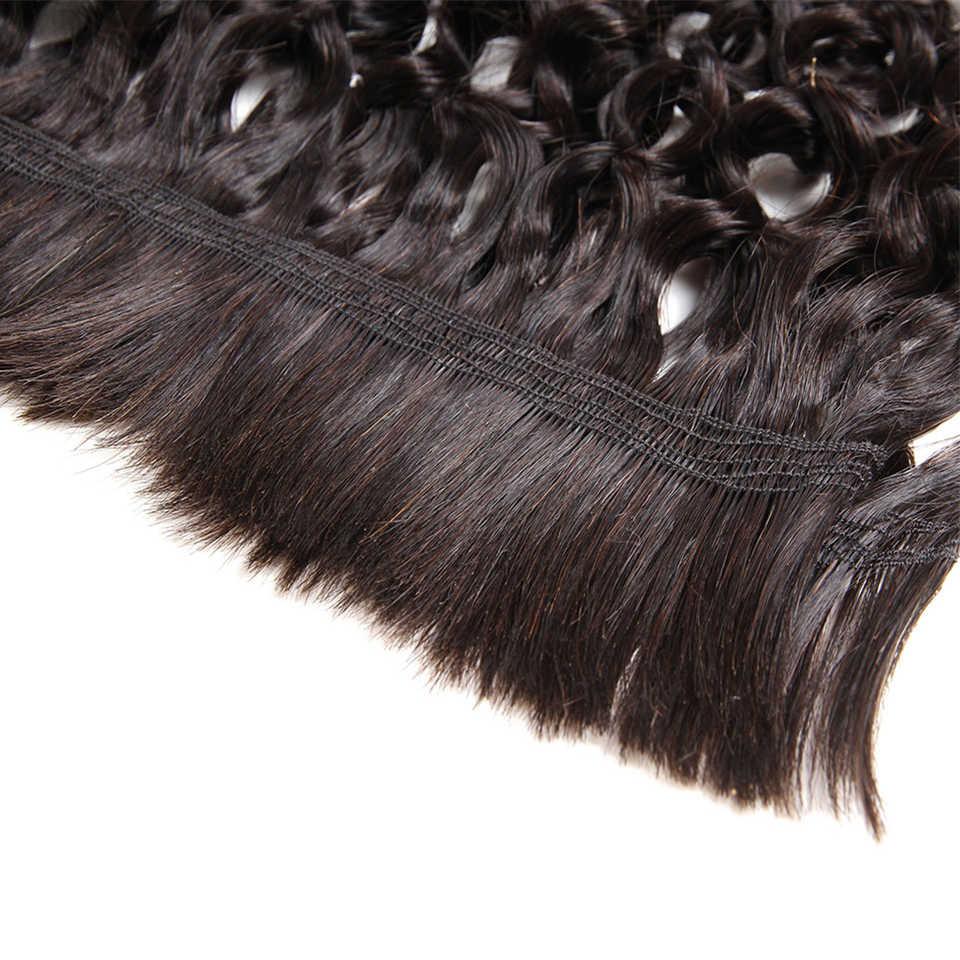 Rebeca brasileña Remy pelo humano a granel rizado para trenzar 4 paquetes envío gratis 10 a 30 pulgadas extensiones de cabello de Color Natural