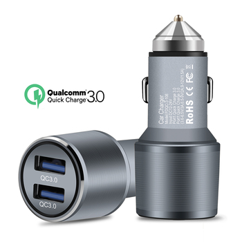 QC 3.0 Dual USB Car Charger Quick Charge 3.0 5V/3A 9V/2A 12V/1.5A for for Xiaomi iPhone X 7 Samsung Android iOS Phone Charging