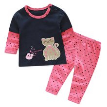 YiErYing Newborns Clothes Suits 2Pc Spring Long Sleeve Lovely Cartoon Leisure Coat+Pant For Baby Boy Girl Sets