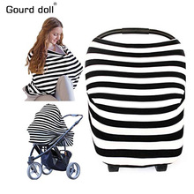 Nursing Breastfeeding Cover Scarf – Baby Car Seat Canopy, Stroller Cover, Car seat Covers for Girls and Boys – Multi-Use Infinity Stretchy Shawl