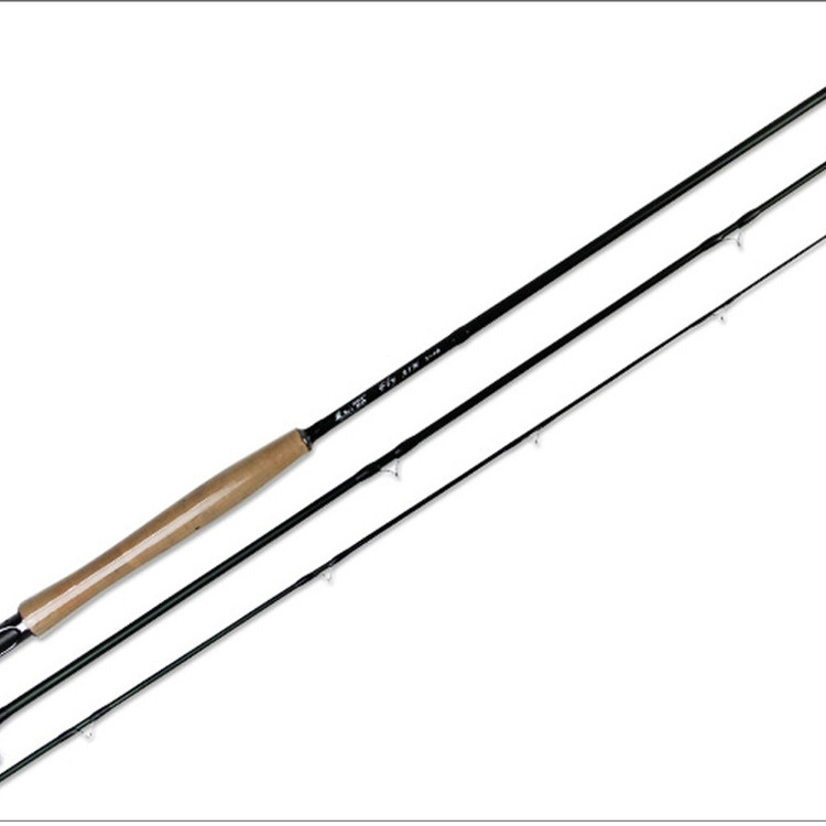 ФОТО High Quality 3 Sections 2.28M Ultra-light Corkwood Handle Carbon Fly Fishing Rods Fishing Tackle