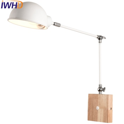 IWHD Iron Wandlamp Modern Led Wall Lamp Light Fashion Adjustable Long Arm Sconce Wall Lights For Home Lighting Fixtures Arandela modern led bathroom light stainless steel led mirror lamp dresser cabinet waterproof sconce indoor home wall lighting fixtures