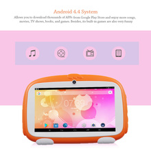 BDF Kids Tablet PC 7 Inch Android 4.4 Tablet A23 Quad Core 8G ROM 1024x600 Screen Children Education Games Baby Tablets PC Wifi