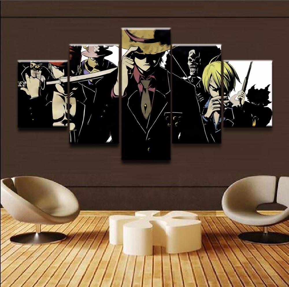 Lienzo pintura póster arte de la pared foto marco 5 unidades One ...