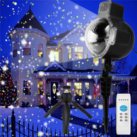 ZjRight Christmas Holiday Snowflake Projector LED Light Outdoor Waterproof LED Lamp Light Home Garden Snowfall Indoor