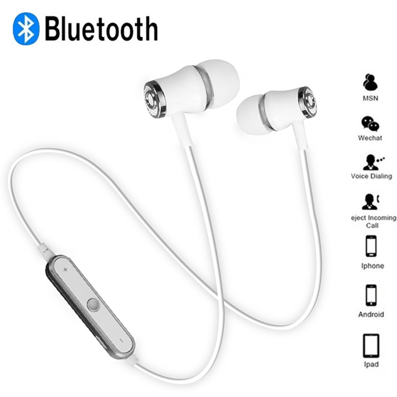 Hot Sale N64 Wireless Bluetooth Earphone Super Bass Headphones Sports Headset Sweatproof Cordless Earbuds Handsfree With Mic magnetic attraction bluetooth earphone headset waterproof sports 4.2