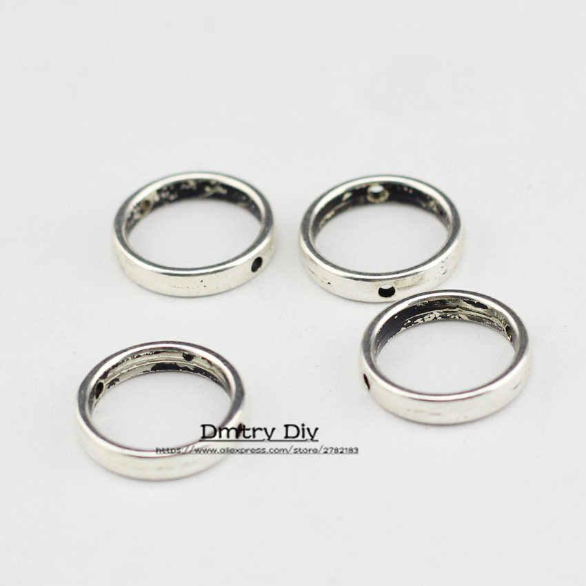 Dmtry 5 sztuk moda biżuteria Trendy okrągły z okrągły element dystansowy do komponenty do wyrobu biżuterii z skórzana linka DIY LC0111