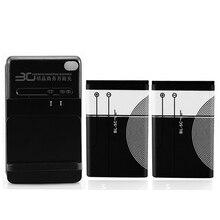 2Pc BL 5C Batterij + Wall Charger Voor Nokia 1112 1208 1600 1100 1101 N70 N71 N72 N91 E60 BL5C BL 5C Vervanging Backup Batterij