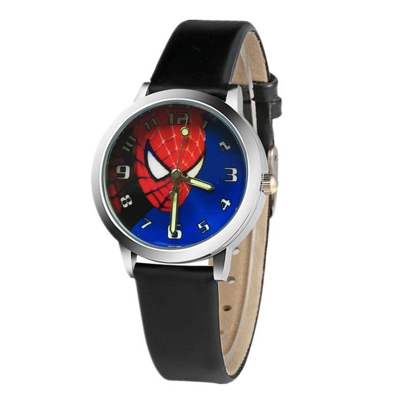 2018Hot sale spiderman watch children watch 3d leather