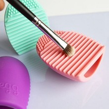 Brushegg Silicone Brush Cleaning Egg Brush Egg Cosmetic Brush Cleanser Make up Brush Cleaner Clean Tools for  Cosmetics 1pc