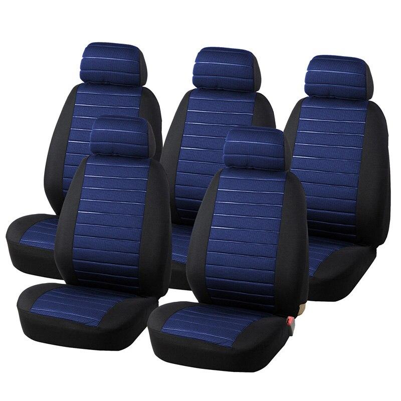 AUTOYOUTH 15 PZ Van Coprisedili Airbag Compatibile, 5 MM Schiuma Universale 5x Posti Posti A Scacchi Blu Accessori Interni
