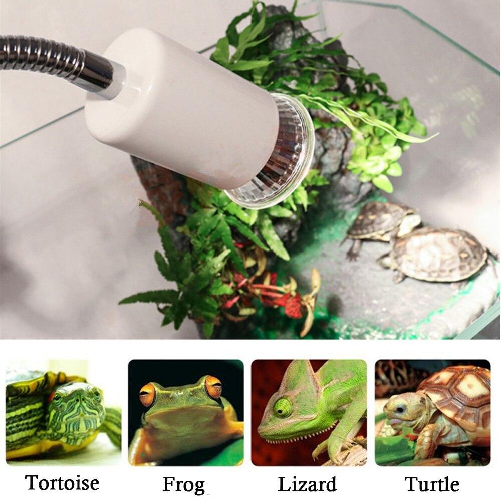 Reptile Uva Uvb Lamp With Clip-on Bulb Lamp Holder Kit Turtle Basking Uv Heating Lamp Bulb Set Tortoises Lizards Light Lighting #4