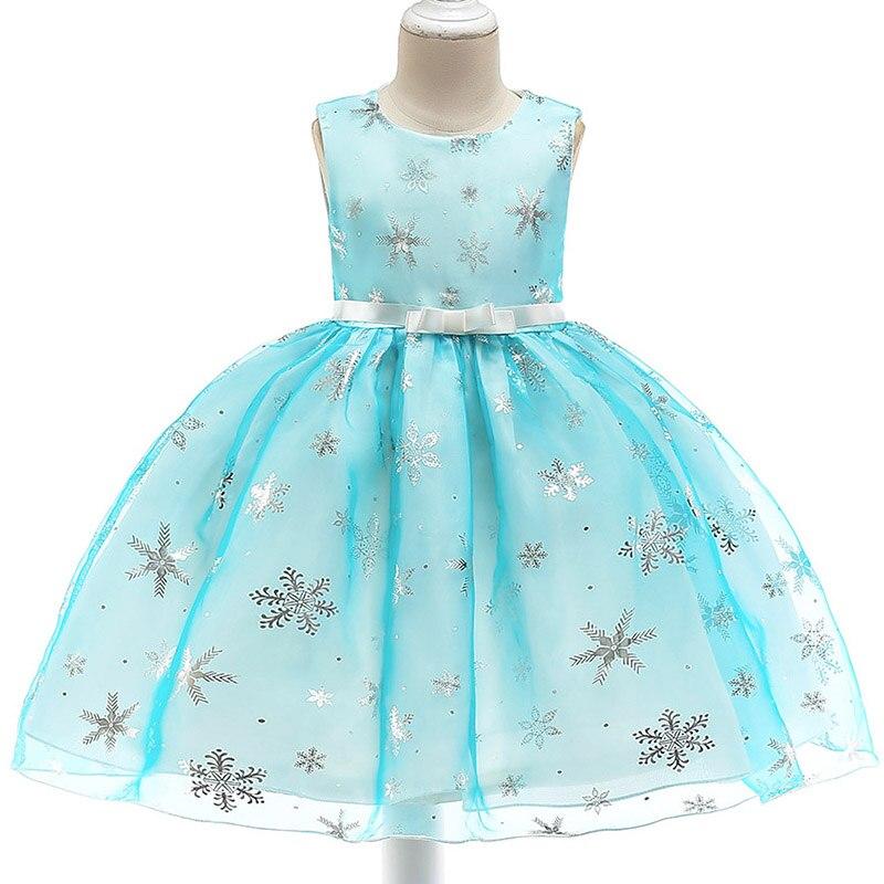 Retail New Design Baby   Girl   Printing Snow   Dress   For Christams Kids   Girl   Princess   Dresses     Flower     Girl     Dress   L5050