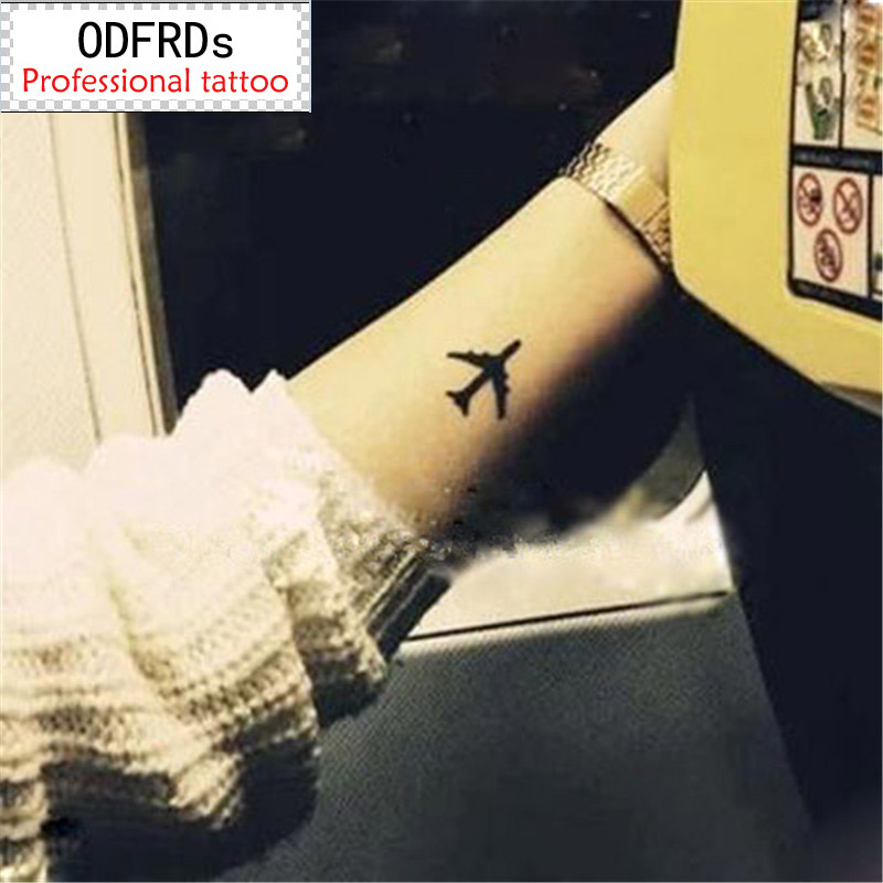 (Min Order $0.5) Waterproof Temporary Tattoo Tatoo Henna Fake Flash Tattoo Stickers Taty Tatto  Lovers Plane SYA014