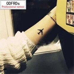 (Min order $0.5) waterproof temporary tattoo tatoo henna fake flash tattoo stickers Taty tatto  Lovers plane SYA014
