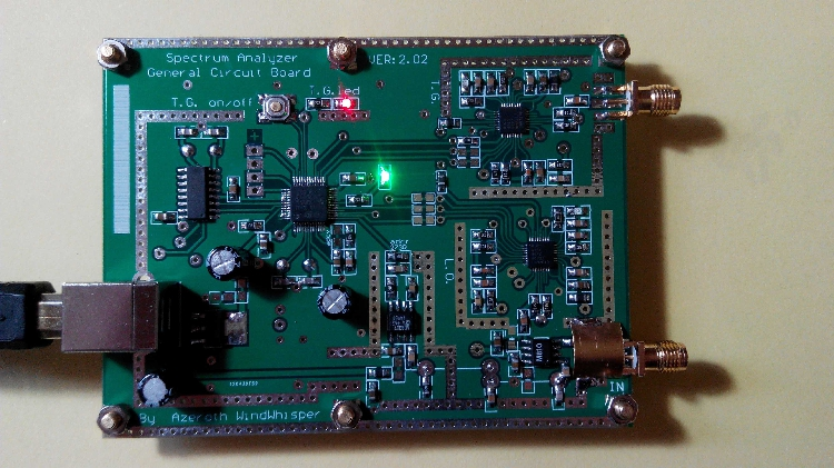 Simple Spectrum Analyser D6 with Tracking Source T G V2 02 Simple Signal Source