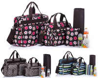 Free Shipping! Waterproof Multi-function 5PCS Baby Nappy Changing Diaper Bag Set--BS005
