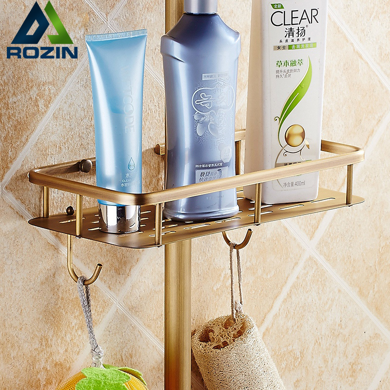 Free Shipping Bathroom Commodity Shelf for Shower Faucet Rod Wall Mounted Storate Rack with Hooks инструменты для выпечки ali commodity cookie