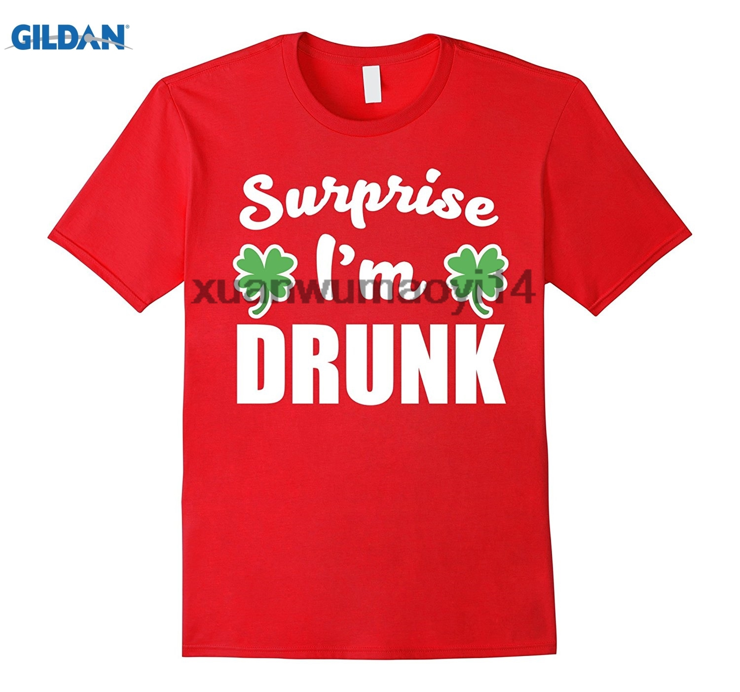 GILDAN CUTE Surprise Im Drunk Saint Patricks Day Shamrock Shirt ...