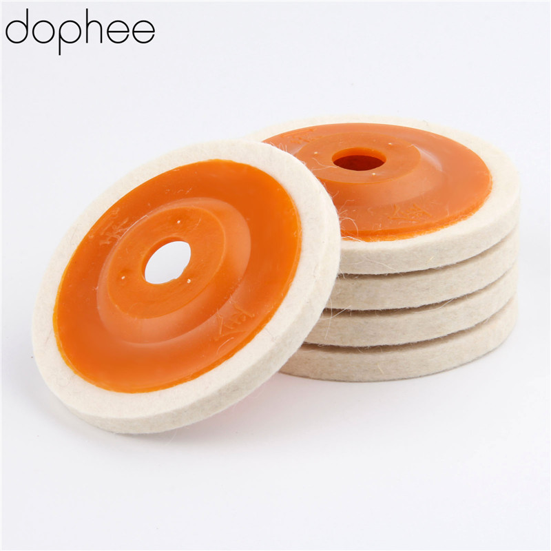 Image 5 - dophee 100mm Wool Polishing Wheel Buffing Pads Angle Grinder Wheel Felt Polishing Disc for Metal Marble Glass Ceramics 1 PC-in Abrasive Tools from Tools