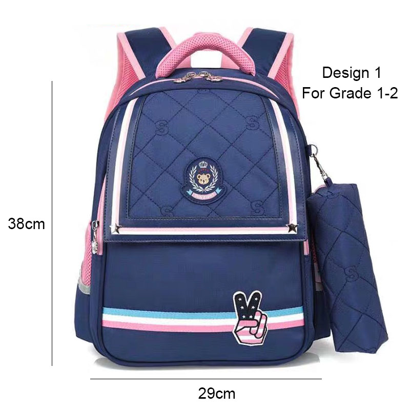 Image 2 - SUN EIGHT 1 2 Grade 15inch Girls Backpack School Bags For Kid Light Books Bag  Wholesale Price-in School Bags from Luggage & Bags