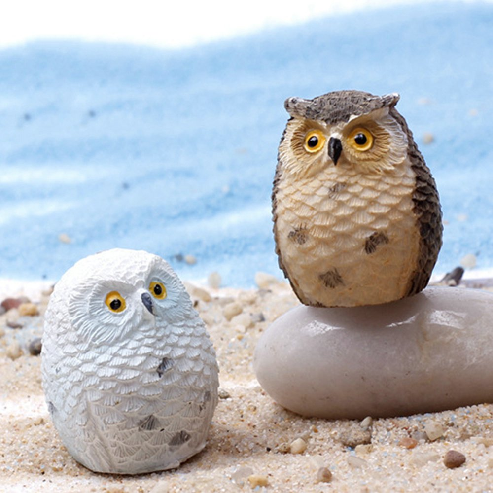 Miniature Owls Garden Craft Terrarium Figurine Diy Landscape Decor Night Owl Crafts For Mini Fairy In Figurines Miniatures From