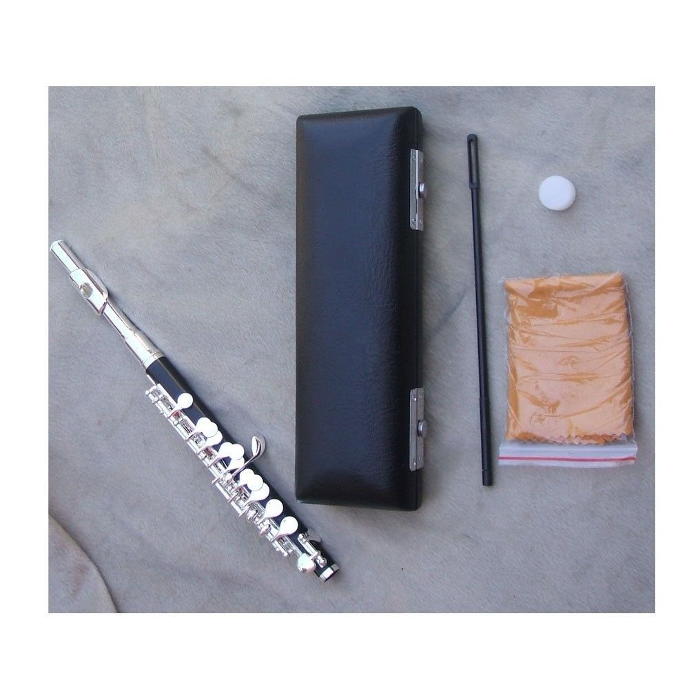 NEW piccolo kit C key silver plated case / grease/ cleaning cloth/ stick new