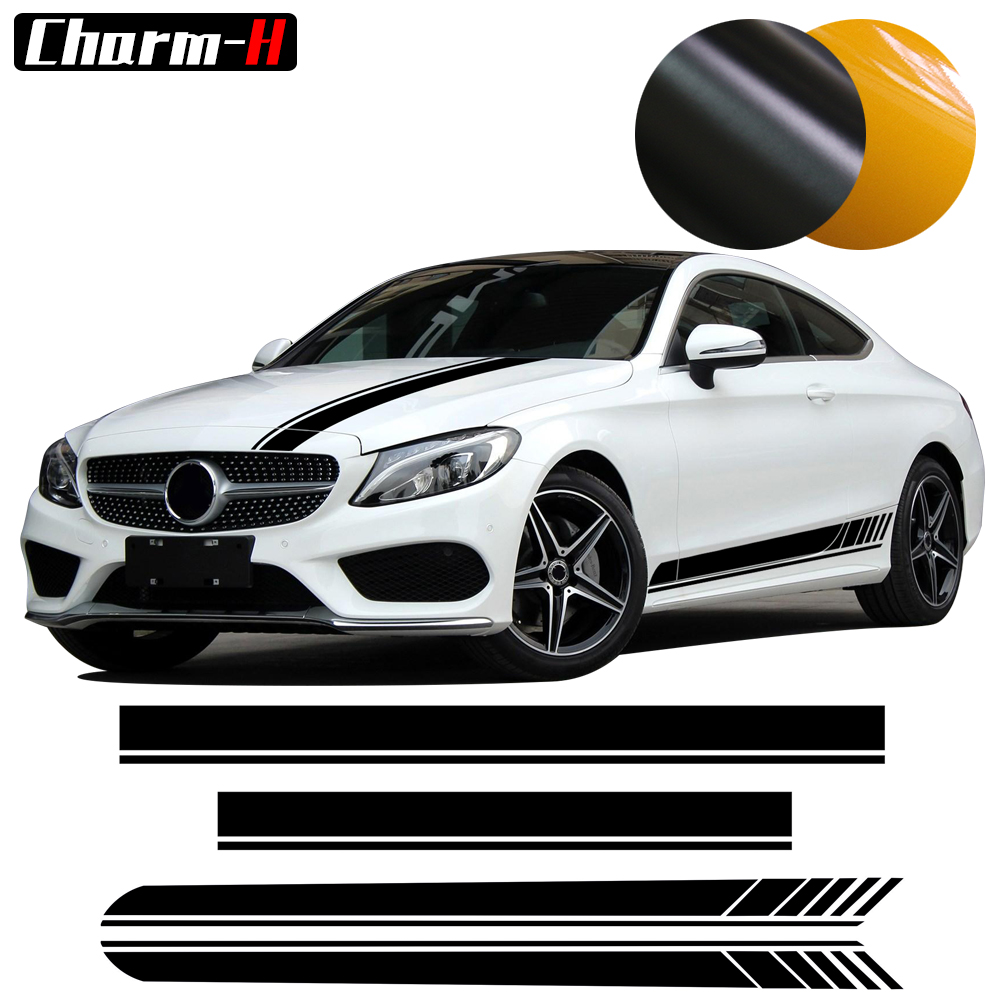 AMG C63 Edition 1 Side Stripe Hood Roof Decal Stickers for Mercedes Benz W205