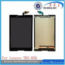 Новый для Lenovo TB3-850F tb3-850 tb3-850F tb3-850M Планшеты корпус Сенсорный экран планшета + ЖК-дисплей Дисплей Узлы и агрегаты для автомобиля Бесплатная доставка