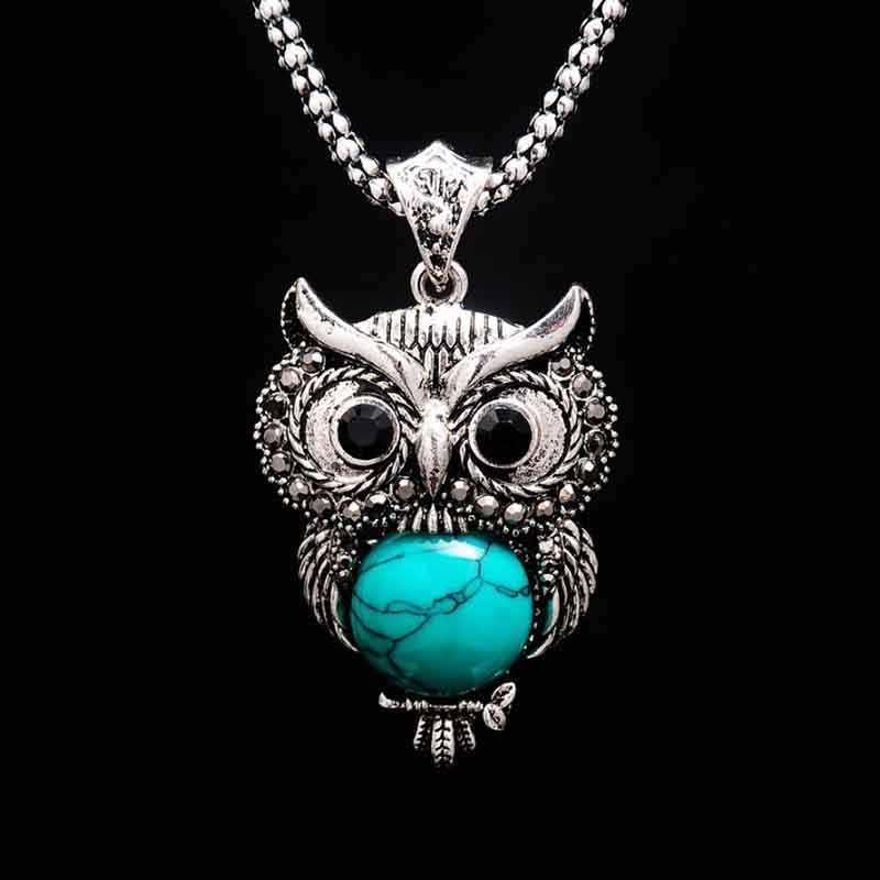 Stein Halskette Eule armband & ohrringe; Halskette Schmuck für Frauen Anhänger Lange Halskette-Anhänger Halsketten für geschenk