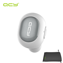 Buy online QCY Q26 mono car calls bluetooth earphone wireless headset noise cancelling earbud & storage pouch with Microphone