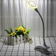 LED Flexible USB Clipper Clip Desk Lamp Children Eye Protection Study Table L15