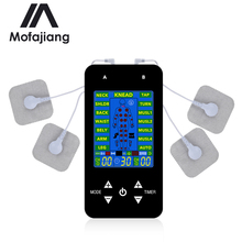 15 Modes Tens EMS Machine Electric Full Body Massager Pulse Muscle Stimulator Electrode Pads Digital Therapy Pain Relief Device tens body massager 16modes digital therapy machine muscle stimulator 1pair hands care conductive electrode fiber silve gloves