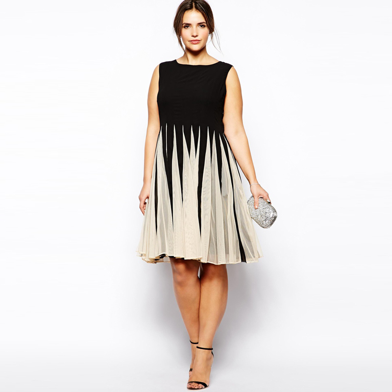 Kissmilk 2017 Fashion Womens Color Block Empire Waist A Line Dress