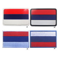 Russia Flag Embroidery and PVC the Tactical Military Patches Badges for Clothes Clothing