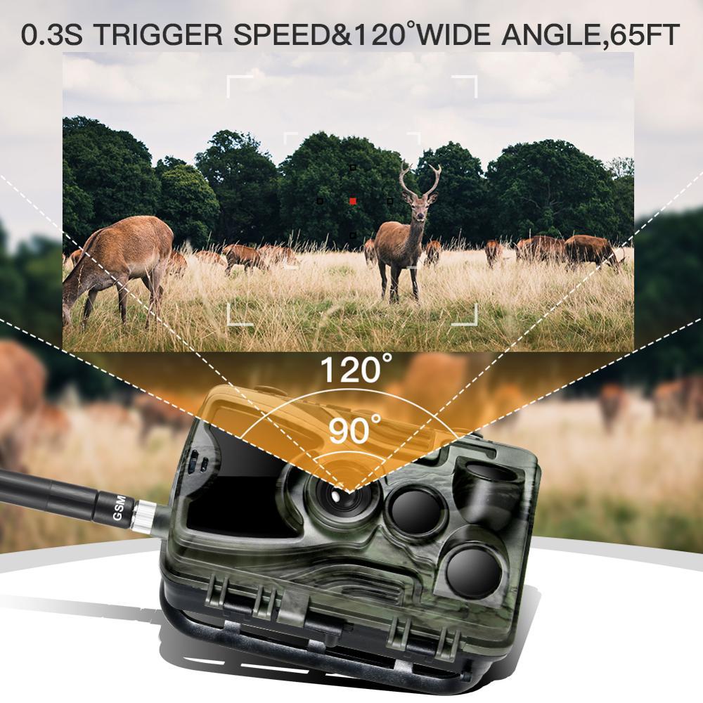 Suntekcam HC-801M 2G caméra de chasse caméra de suivi SMS/MMS Photo pièges jeu de chasseur sauvageGarde fantôme cerfNourrir livraison gratuite - 5