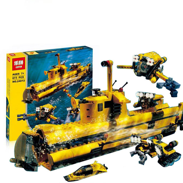 Lepin 24012 New Creative The Underwater Explora Ship Educational Building Blocks Bricks Funny Toys Model Compatible 4888 lepin 22001 pirate ship imperial warships model building block briks toys gift 1717pcs compatible legoed 10210