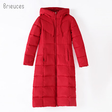 Brieuces Winter Coat Women Long Thicken Warm winter Jacket female Down Cotton Padded Jacket Outerwear hooded Parkas oversize 6XL 2018 winter maternity hooded coat women thicken warm long jacket pregnancy cotton padded outerwear parka