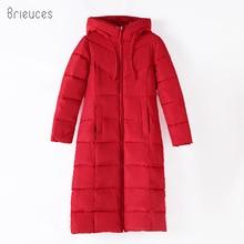 купить Brieuces Winter Coat Women Long Thicken Warm winter Jacket female Down Cotton Padded Jacket Outerwear hooded Parkas oversize 6XL по цене 1725.98 рублей