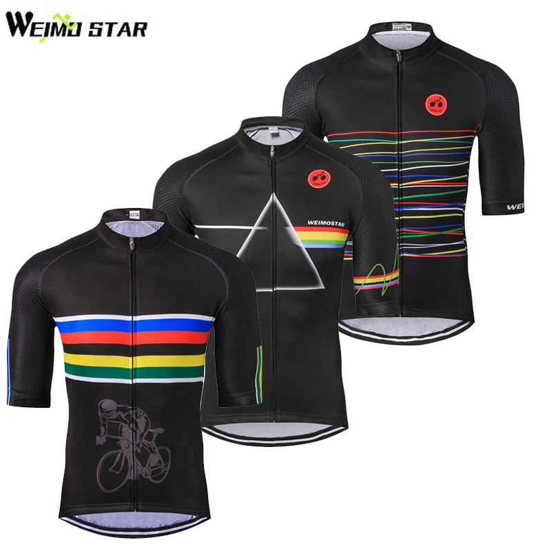 Weimostar Men's Cycling Jersey Ropa Ciclismo Summer Outdoor Sport Bike Jersey Breathable Bicycle Half Short Sleeve Clothing Top