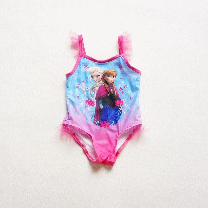 Action club Character Kids Swimming One Pieces Children 2017 Summer Swimsuit Elsa Anna Swimwear  Baby Girls Bathing Suit коллективные сборники хрестоматия по русской литературе 9 й класс часть 2 ая