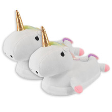 Kids Home Shoes Winter Warm Plush Slippers Unicorn Slippers Big Boys Girls Plush Fur Slippers Mules Shoes For Children
