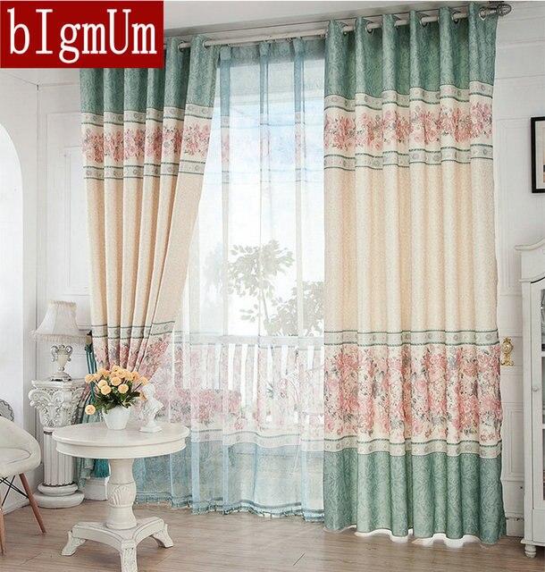 nueva llegada rstico cortinas para la floral cortina