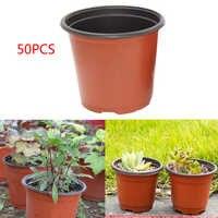 50 pcs Plastic Garden Plant Pot Flower Grow Seedlings Nursery Starter Pot Universal Storage Container with Hollows Garden Tool