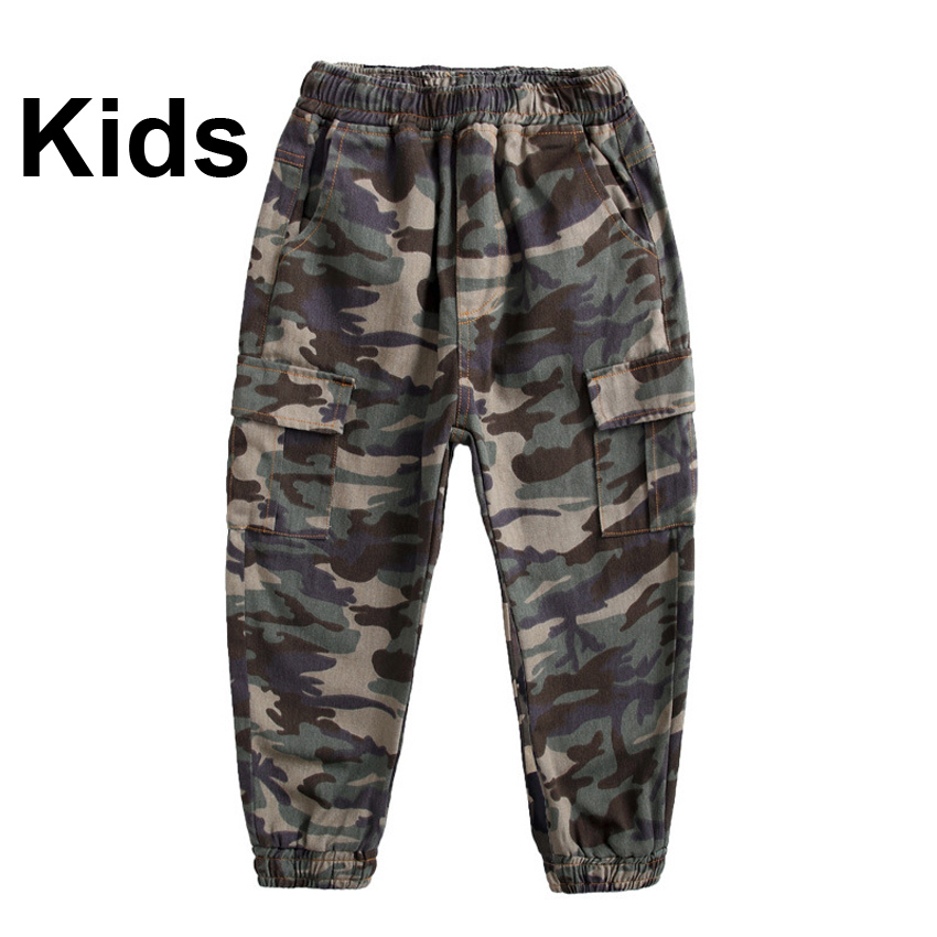 Jungle Multicam Camouflage Kids Boys Trousers Army Suit Comfortable Harem Tactical Combat Cargo Special Force Pants Joggers image