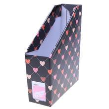 Получить скидку Сердце desktop-файл книга журнал Бумага коробка для хранения офис напильника канцелярские контейнер для хранения организатора Home Box