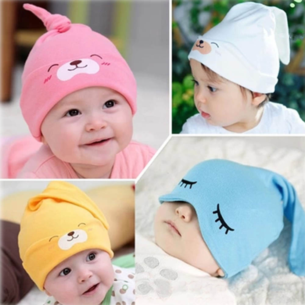 13 Colors Spring Autumn Knitted Cotton Hat Beanies For Boy and Girl Print Warmer Sleep Cap Skullies Clothing Accessory sleep professor spring love