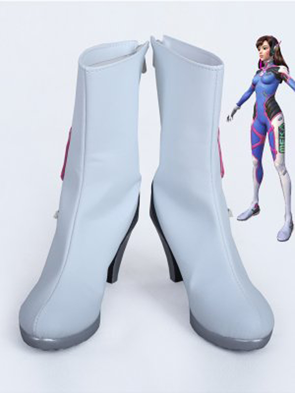 OW <font><b>D.Va</b></font> White High Heels Cosplay Boots <font><b>Shoes</b></font> Women Cosplay Costume Party <font><b>Shoes</b></font> Custom Made Boots image