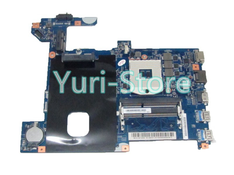 NOKOTION 11S900003 Laptop Motherboard For lenovo G580 HM77 DDR3 55.4SH01.001G LG4858 UMA Mainboard MB 48.4SG06.011 nokotion sps v000198120 for toshiba satellite a500 a505 motherboard intel gm45 ddr2 6050a2323101 mb a01